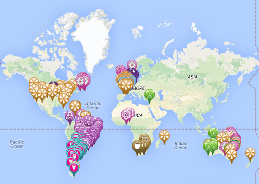 Menstrual Cup Stores Worldwide Map Menstrual Cups